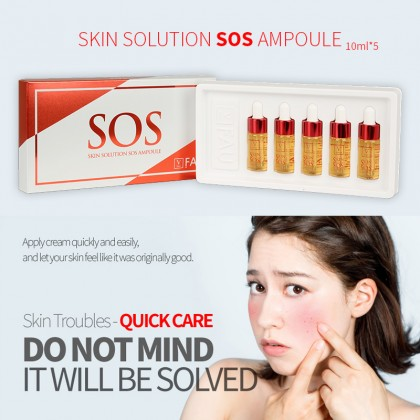 Skin Solution SOS Ampoule (10ml*5) FAU Korea 100% Original